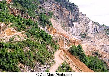 Carrara  marble stone pit 11