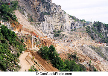 Carrara  marble stone pit 12