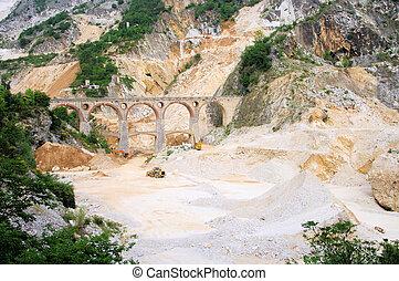 Carrara  marble stone pit 13