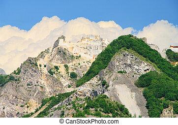 Carrara  marble stone pit 15