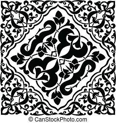 carreau, arabesque