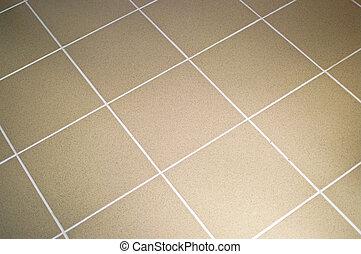 carreau, brun, céramique, couleur, plancher
