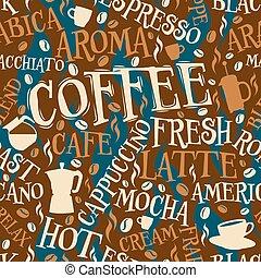 carreau, café, seamless