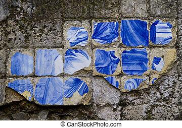carreau, cassé, azulejo