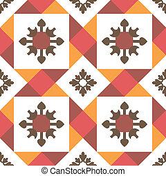carreau, décoratif, seamless, fond