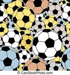 carreau, footballs, seamless