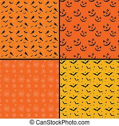 carreau, halloween, arrière-plans, seamless