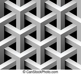 carreau, industriel, vecteur,  seamless,  3D