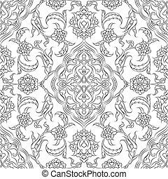 carreau, iznik, conception, turc