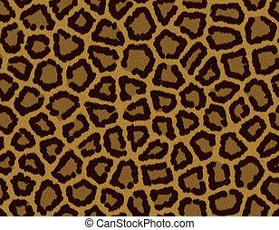 carreau, léopard, fourrure, seamless, fond