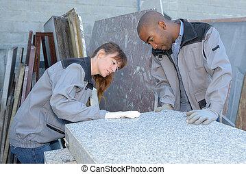 carreau, livraison, inspection, setters