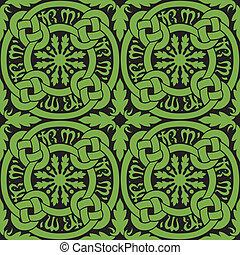 carreau, modèle, celtique, noeud