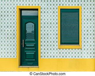 carreau, portugais, -, azulejo, maison