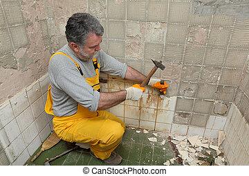 carreau, rénovation du logement, démolir
