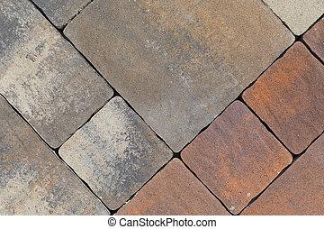 carreau, trottoir, pierre