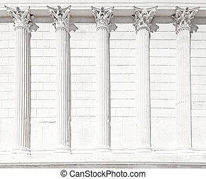 carree, column., λά , ρωμαϊκός , nimes , maison , κρόταφος...