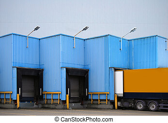carregando, caminhão