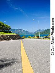 carreggiata, asfalto