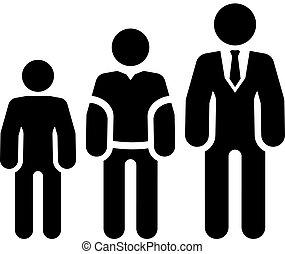 carreira, apartamento, icon., crescimento, design.