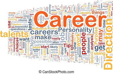 carreira, conceito, fundo
