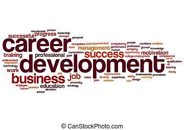 carreira, desenvolvimento, palavra, nuvem