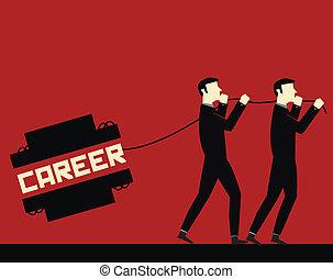 carreira, homem negócios