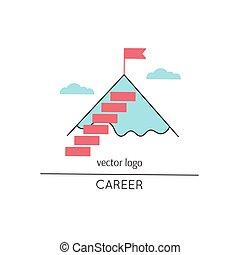 carreira, linha, ícone