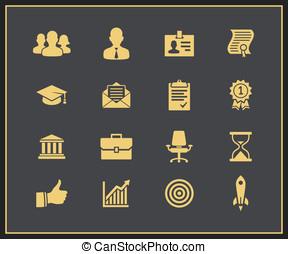 carreira negócio, ícones, jogo