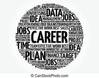 carreira, palavra, nuvem