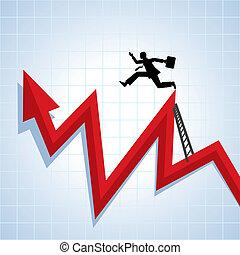 carreira, progresso, crescimento, ve, negócio