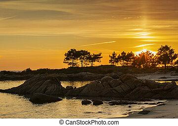 Carreiron Natural Park at sunset