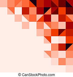 carrelé, fond, rouges