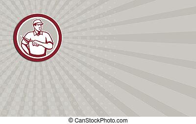 carreleur, business, ouvrier, maçon, plâtrier, cercle, maçonnerie, carte