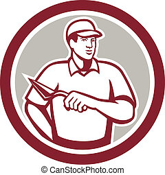 carreleur, ouvrier, plâtrier, maçonnerie, maçon, cercle
