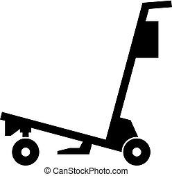 carrello, aeroporto, vettore, -, bagaglio