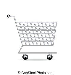 carrello, vettore, shopping, icona