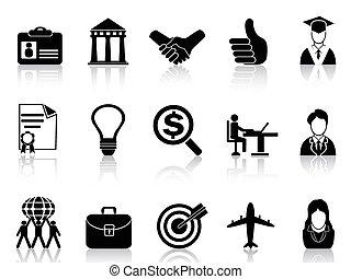 carrera del negocio, iconos