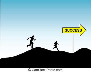 carrera, para, éxito