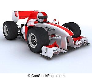carreras de automóvil, hombre