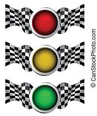 carreras, semáforos