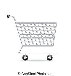 carreta, ícone, shopping