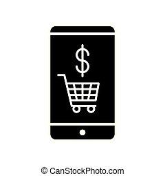 carreta, shopping, smartphone, ícone
