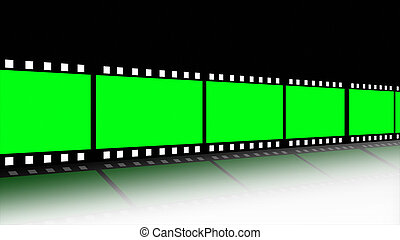 carrete, película, animado