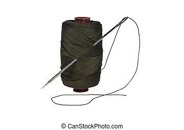 carrete, thread., aguja