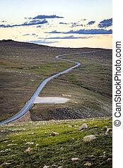 carretera, 212, en, beartooth, pase, montana