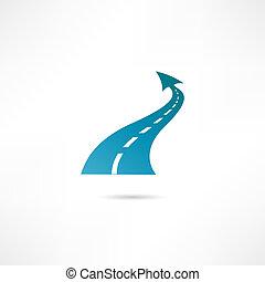 carretera, icono