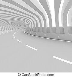 carretera, puente