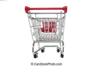 carretilla de las compras, aislado