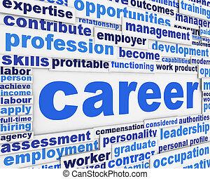 carrière, affiche, slogan, conception