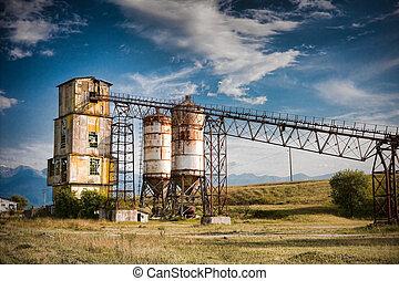 Hiver silos carri re convoyeurs gravier ceinture - Prix gravier carriere ...